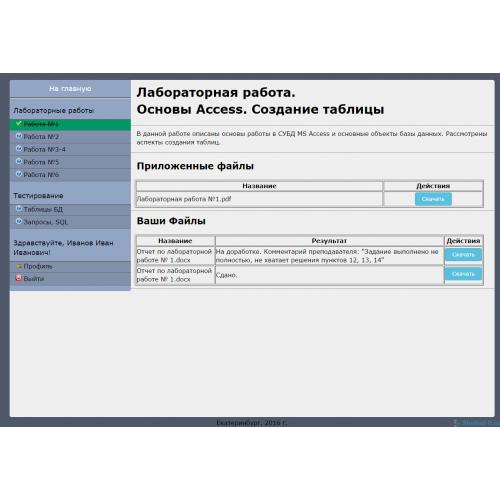 Готовая дипломная работа Разработка электронного учебного   Разработка электронного учебного комплекса по дисциплине базы данных на тему Работа в СУБД access